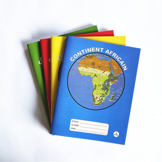 17X22cm Cheap Price Soft Cover Africa Map French Line Exercise Book FEB-2