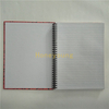 Good Quality 8mm Single Line Ruled School Hard Cover Spiral Notebooks SN-12
