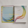 Color Printing Personalised Design Grey Line Printing Hard Cover Spiral Notebook SN-35