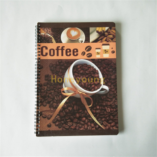 A4 Size Soft Cover Colorful Printing Spiral Notebook SN-3