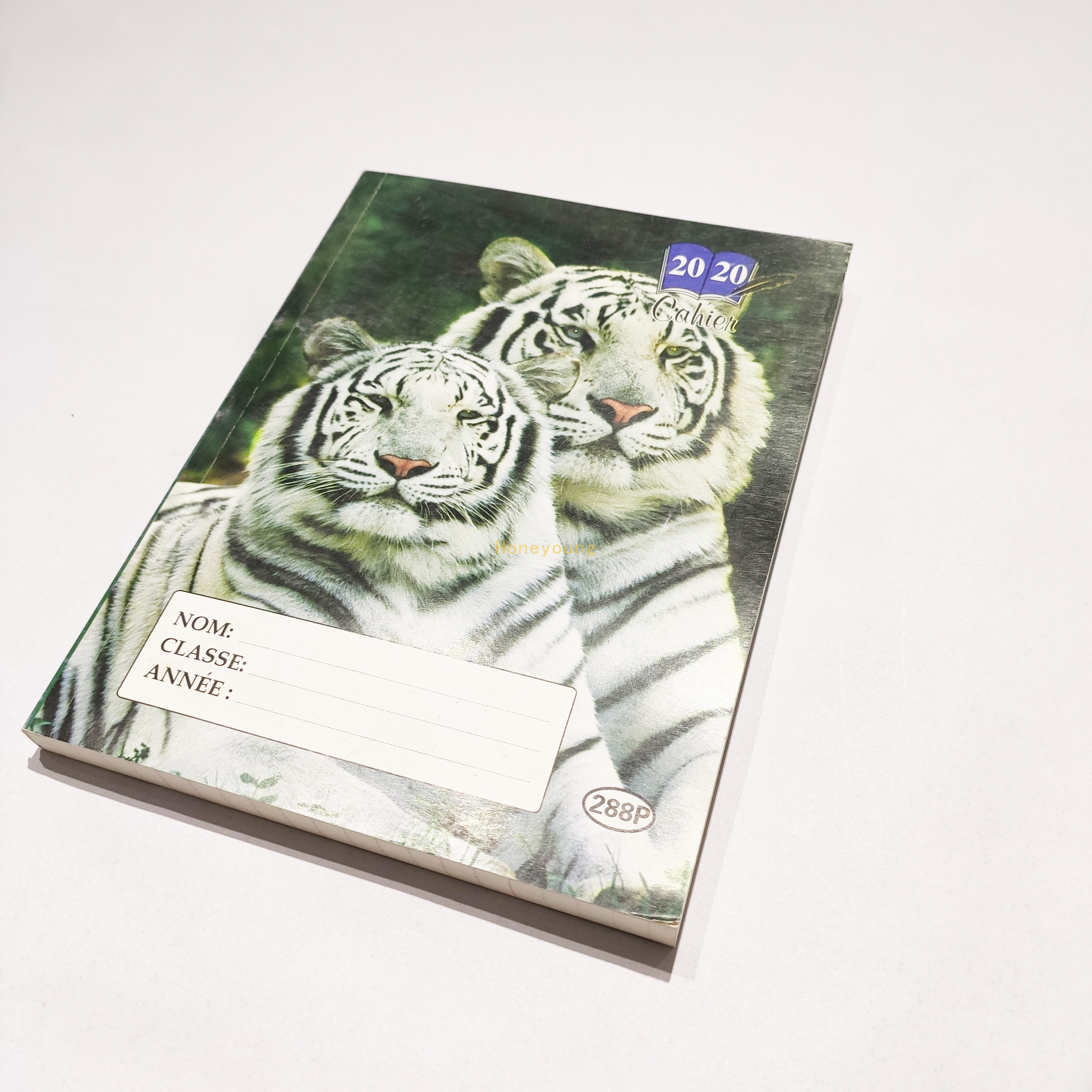 Simple And Cheap Factory Animal Print French Line Glue Binding Notebook GBN-04