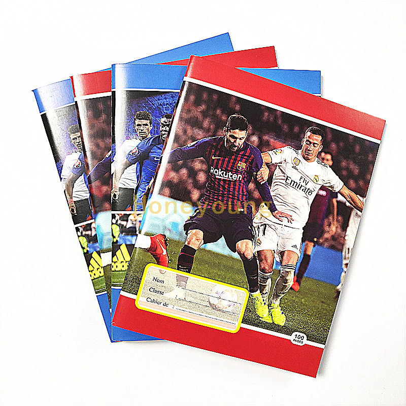West Africa Football Player Custom School Staple Binding Exercise Book FEB-4